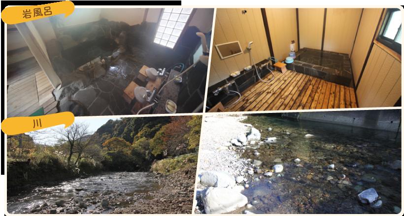 岩風呂・川